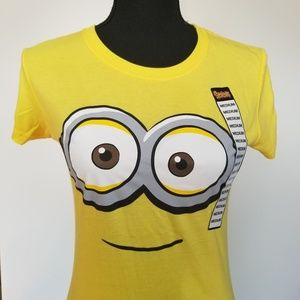Yellow Despicable Me baby doll tshirt, NWT